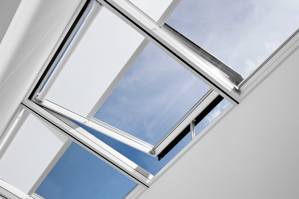 VELUX Modular Skylights with pre-mounted blinds